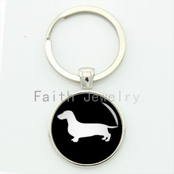 Cute Dachshund key chain