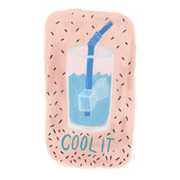 cool it . print // summer time super cool watercolor illustration