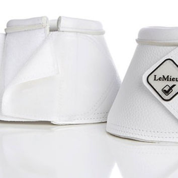 LeMieux Leather WrapRound Bell Boots - White