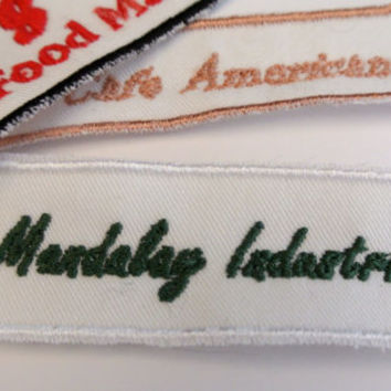 Business Name Patch Custom made with the name and color of your choice