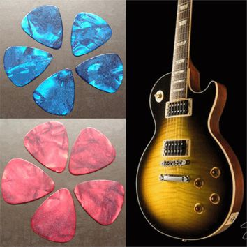 New 10Pcs Blue Thin 1 mm Assorted Acoustic Electric Guitar Picks Plectrum high quality Musical Instruments Parts Accessories
