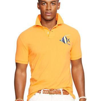 Polo Ralph Lauren Custom-Fit Embroidered Mesh Polo Shirt