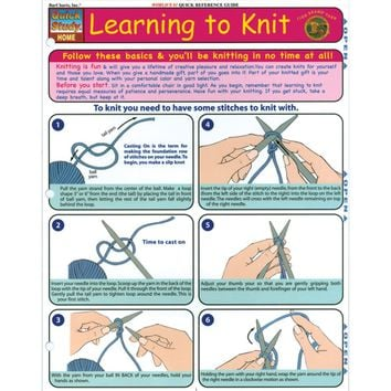 Quick Study Reference Guide-Learning To Knit