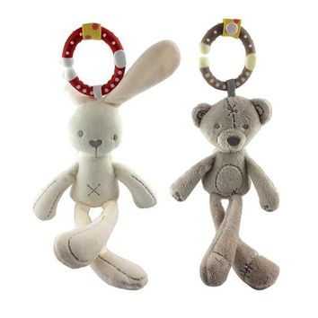 Baby Soft Stuffed Plush mini Toy Rabbit Bear Plush Toys Hanging Doll Plush Bed Toys Comfort Dolls Stroller Accessories ourson