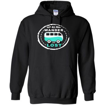 Campervan T Shirt Not All Who Wander Are Lost