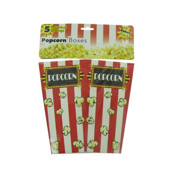 Popcorn Boxes, Package Of 5 (pack of 12)
