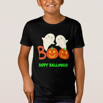Happy Halloween Ghosts Jack O'lantern Pumpkins BOO T-Shirt