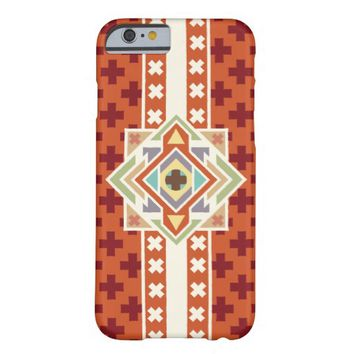Southwestern Tribal Native Geometric Pattern Barely There iPhone 6 Case