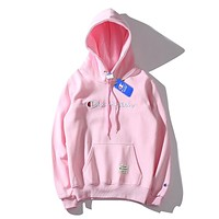 Champion autumn and winter classic embroidery logo hooded sweater F-A-KSFZ pink