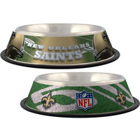 New Orleans Saints Stainless Dog Bowl