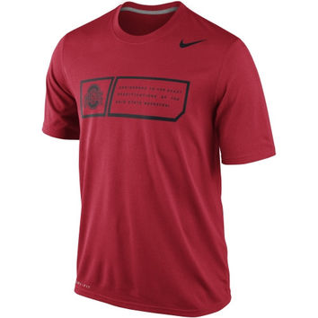 Nike Ohio State Buckeyes 2014 Football Sideline Training Day Legend Dri-FIT Performance T-Shirt - Red