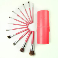 Wool Nylon Blend Nylon Wool 12-pcs Make-up Brush Set = 4831014148