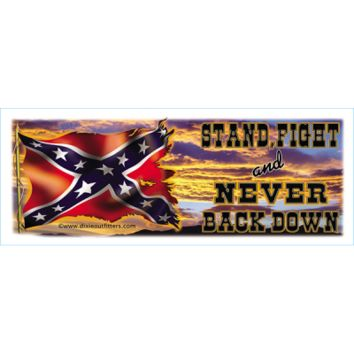 Stand Fight And Never Back Down Coffee Mug by Dixie Outfitters®
