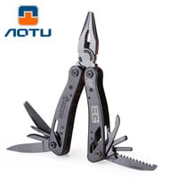 2016 Multi Tool Folding Pliers with Knife Screwdrier Bits Ferramentas Camping Survival Multitool Hand Travel Kits AOTU AT7614