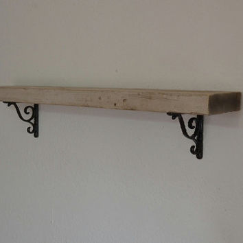 Repurposed wood shelf 29 wide 4 deep beautiful patina