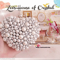 Elegant and Stylish Pearl Clutch - Bridal / Bridesmaid / Wedding Clutch
