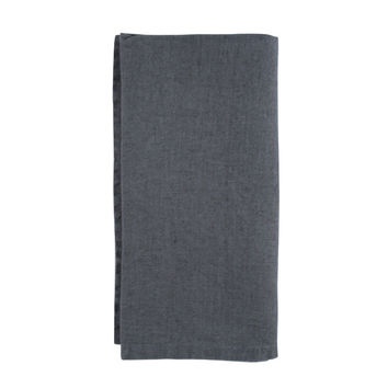 French Stone-Washed Linen Napkin in Dark Grey