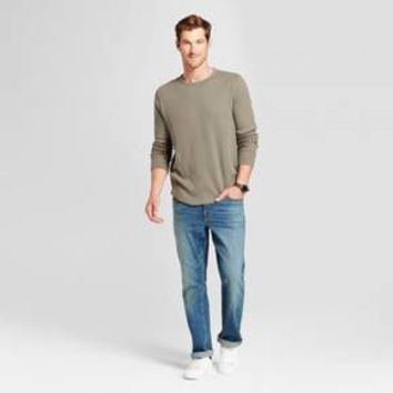 Men's Basic Crew Heavyweight Long Sleeve Standard Fit T-shirt - Goodfellow & Co™