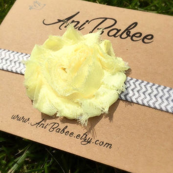 Baby headband, shabby chic baby headband, flower headband, chevron headband, headband for girls, teen, infant
