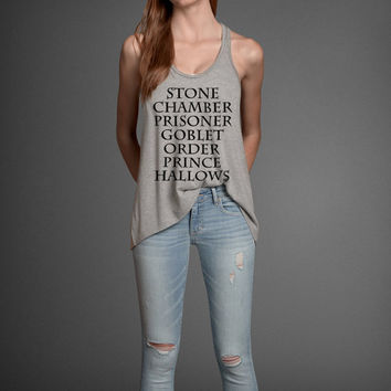 Harry Potter Book Movie Parody Title Names Women's Flowly Tank Top