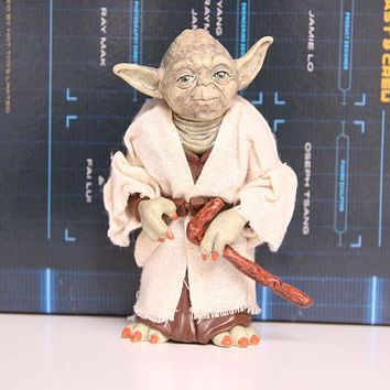 Star Wars Force Episode 1 2 3 4 5  Jedi Knight Master Yoda PVC Action Figure Collectible Model Toy Doll Gift 12cm AT_72_6