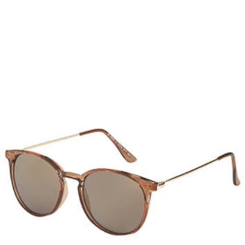 Walt Round Sunglasses - Coffee