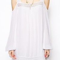 Band of Gypsies Swing Dress in Crochet with Cold Shoulder
