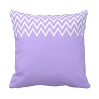 Zigzag Pink And Purple Pillow