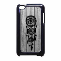 Hipster Vintage Black Dreamcatcher On Gray Wood iPod Touch 4th Generation Case