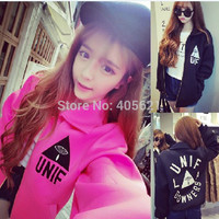 Harajuku BF College Style Space Cotton Baseball Uniform Jacket Korean Version  Students Long Sleeve Coat Casual Wear