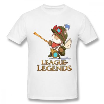 Stylish Clothes Teemo League Of Legends T Shirt Male Quality Cotton Top Design For Male Casual Top design