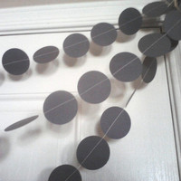 Gray Paper Circle Garland Wedding Decoration Reception Baby Shower Banner Birthday Party Grey Garland 2 inch Circles 10 Feet Long