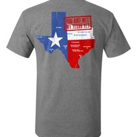 JAB Gray My Texas Tee *Free Limited Edition Koozie with Purchase*
