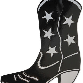 Foil Cowboy Boot Silhouette - Black Case Pack 24