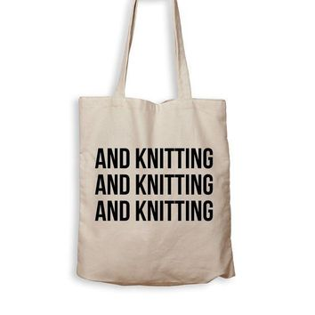 CREYMS2 And Knitting And Knitting And Knitting - Tote Bag
