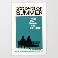 ( 500 ) Days of Summer Saul Bass Tribute Art Print by Wandel Design