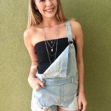 Not Comin' Home Overalls- Light Wash