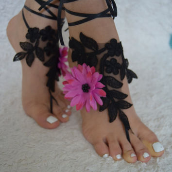 beach wedding barefoot sandals lace barefoot sandals wedding barefoot sandals barefoot sandals wedding beach wedding shoes pink black saten