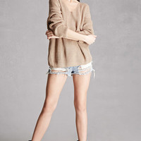 Ribbed Knot-Back Sweater