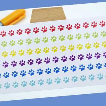 CAT PAWS    animal    small rainbow colored stickers   for your planner or bullet journal