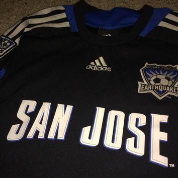 Sale!! Vintage Adidas San Jose Earthquakes Soccer jersey MLS Toddler Football shirt si