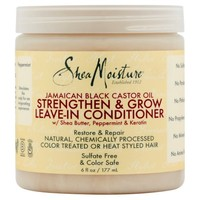 SheaMoisture Jamaican Black Castor Oil Strengthen & Grow Leave-In Conditioner, 6 fl oz - Walmart.com