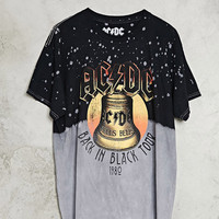 Bleach Dye ACDC Band Tee