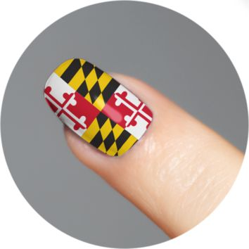 Maryland Flag / Nail Tattoo (18 Set)