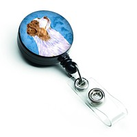 Blue Australian Shepherd Retractable Badge Reel LH9363BUBR