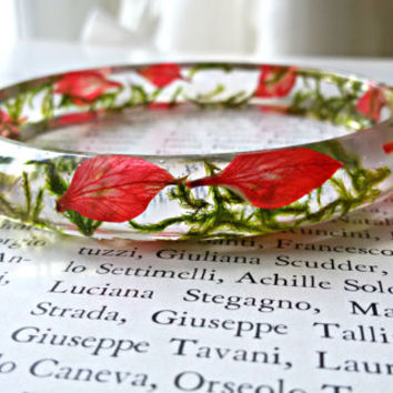 Resin bracelet, Real flower resin, Real flower bracelet, Nature bracelet, Resin jewelry, Gift, Flower bracelet, Pressed flower bracelet,