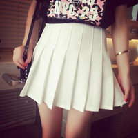 S/M/L  I am your White Summer Tennis Skirt SP152308