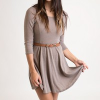 Falling In Love Mocha Dress