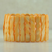Agni Tibetan Bracelet in Orange Conch Shell