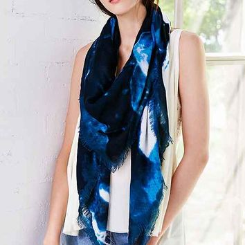 Watercolor Floral Square Scarf